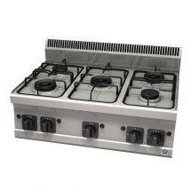 Gastro-Inox 600 Trendline gaskooktoestel 5 branders van 2x 3,3kW, 2x4kW en 1x4,5kW 103.106