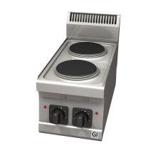 Gastro-Inox 600 Trendline elektrische kookplaat, 2 kookzones 103.107