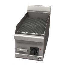 Gastro-Inox 600 Trendline elektrische bakplaat met geribbelde plaat 103.125