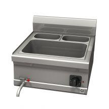 Gastro-Inox 600 Trendline elektrische bain-marie 1x GN1/1 en 2x GN1/4 bakken 103.151