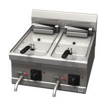 Gastro-Inox 600 Trendline elektrische friteuse, 10+10 liter 103.162