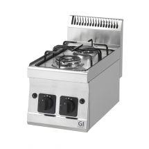 Gastro-Inox 600 Trendline gaskooktoestel 2 branders, 1x3,3kW & 1x4kW 103.101