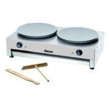 Bartscher Crêpe-bakplaat, 2 platen, 400 mm 104447