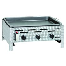 Bartscher Combi-tafelbraadgrill, gas, 3-pits 1062203