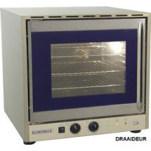 Euromax heteluchtoven 2/3 met grill, met vocht en 2 motoren draaideur 10991GHPB