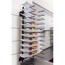 Jackstack muurmodel bordenrek geschikt voor 12 borden 309.001