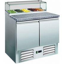 SARO Pizzawerkbank met glasvitrine Model PS 200 G 323-1101