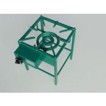 Van Holten Kooktoestel 350-B aardgas groen gemoffeld staal 350-01A-450