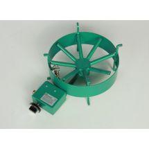Van Holten Wokbrander 380-B aardgas groen gemoffeld staal 380-01A-210
