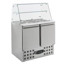 Combisteel Gekoelde saladette glasopstand 2 drs 7950.0400