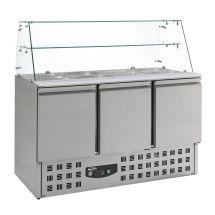Combisteel Gekoelde saladette glasopstand 3 drs 7950.0405