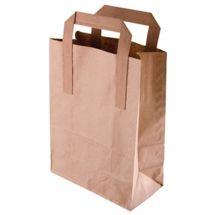 Bruine papieren zakken / draagtassen  groot (250 stuks)