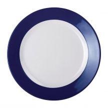 Kristallon Gala melamine bord met blauwe rand 23cm DE606