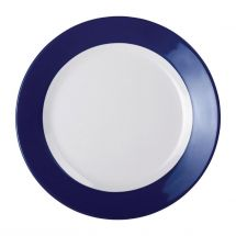 Kristallon Gala melamine bord met blauwe rand 26cm DE607