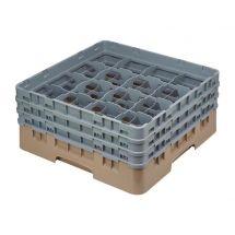 Cambro Camrack vaatwaskorf met 16 compartimenten max. glashoogte 17,4cm DE783
