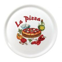 Saturnia pizzabord porselein 31cm - design 3 DJ957