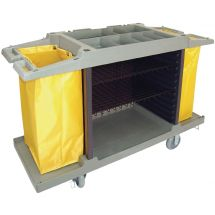 Jantex huishoudwagen met 2 zakken DL011
