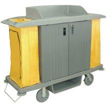 Jantex huishoudwagen met deuren en 2 zakken DL012