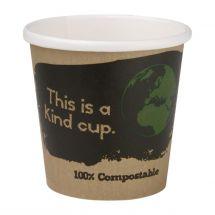 Fiesta Green 1000 composteerbare enkelwandige espressobekers 11,3cl (1000 stuks) DY981