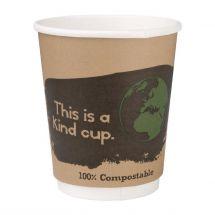 Fiesta Green 500 composteerbare dubbelwandige koffiebekers (500 stuks) DY985