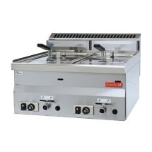 Gastro M 600 gas friteuse 2x 8L 60/60 FRG GL907