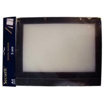 Securit A4 set extra insteekhoezen zwart (5 stuks) H747