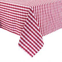 Mitre Comfort Gingham tafelkleed rood-wit 178 x 178cm HB583