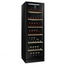 Electrolux Wijnkoelkast, 170 flessen, zwart, glasdeur, r600a 720002