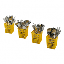 Electrolux Set 4 bestekbekers, geel 865574