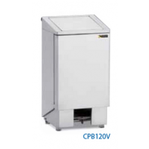 Sofinor professionele RVS vuilnisbak / pedaalemmer 120l design CPB120V