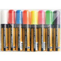 Securit uitwisbare krijtstiften 15mm 8 stuks assorti (8 stuks) Y998