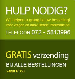 Hulp nodig? Bel 072-5813996. Gratis verzending boven € 350.